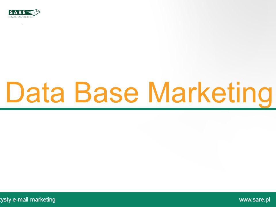 Data Base Marketing Czysty e-mail marketingwww.sare.pl