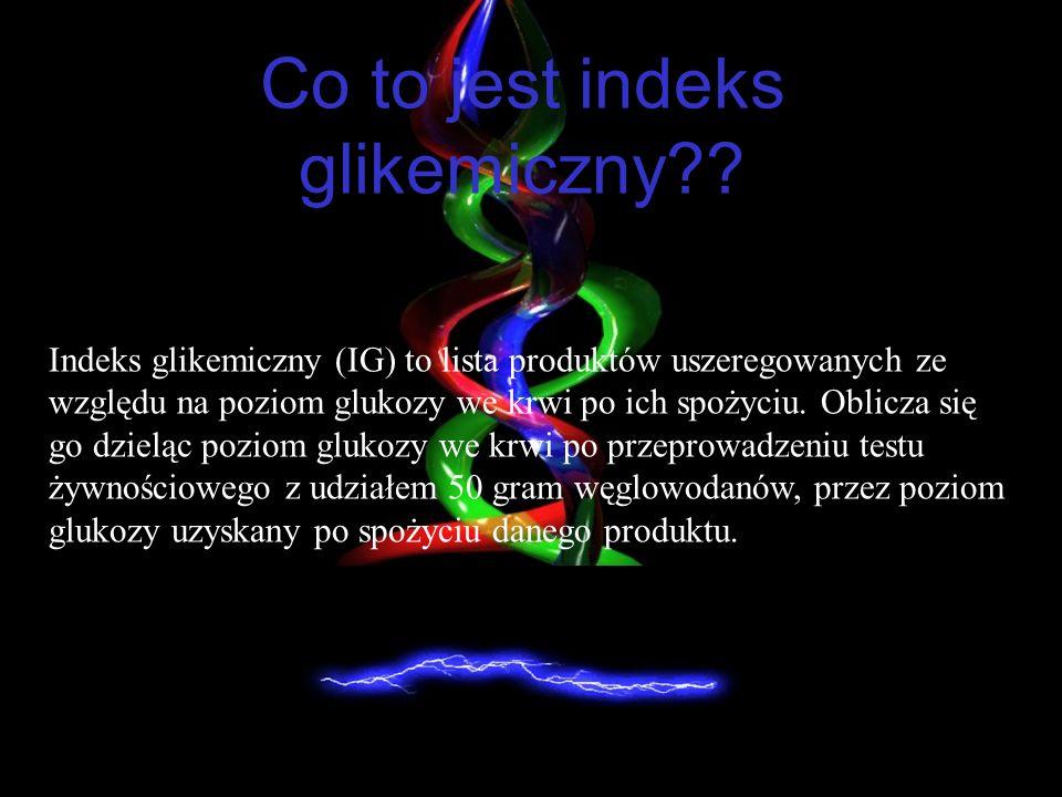 Co to jest indeks glikemiczny?.