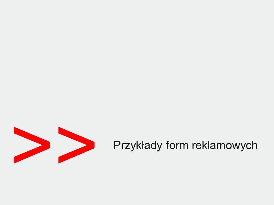 >> Przykłady form reklamowych