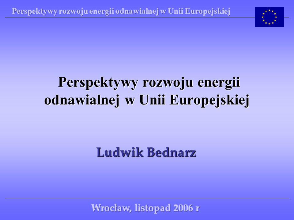 Rodzaje energii wykorzystywane w krajach Unii Europejskiej