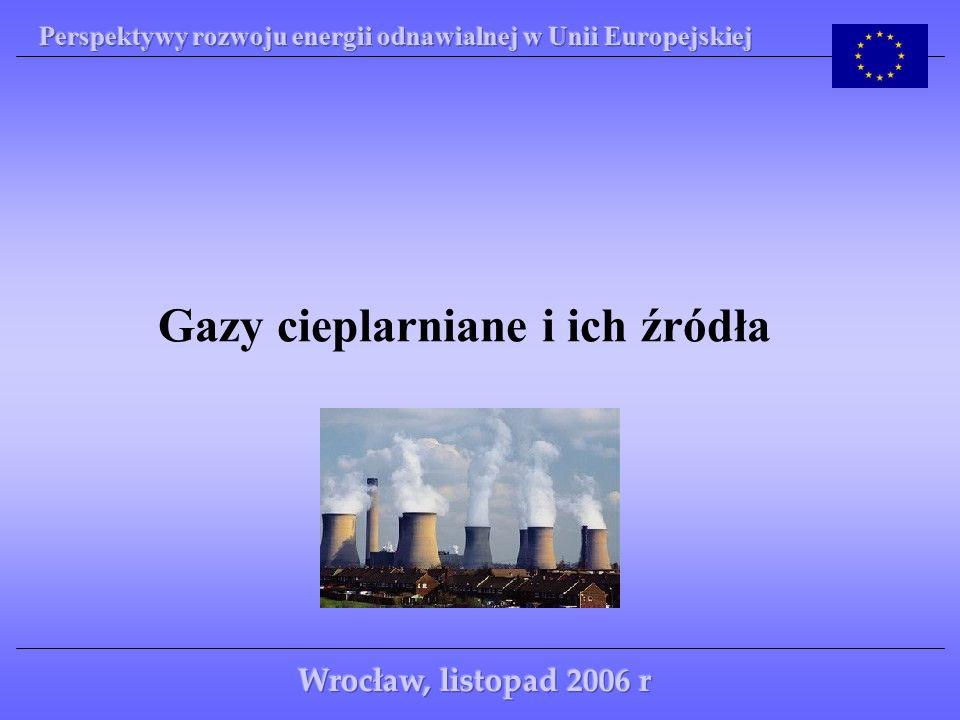 Wspomniany uprzednio efekt cieplarniany polega na gromadzeniu się w atmosferze ziemskiej coraz większej ilości gazów cieplarnianych, do których zalicza się: - dwutlenek węgla CO 2 - 55% - związki chemiczne powodujące degradację powłoki ozonowej - 24% - metan CH 4 - 15% - inne - 6% Gazy te hamują odpływ ciepła z atmosfery ziemskiej, co powoduje jej ocieplenie.