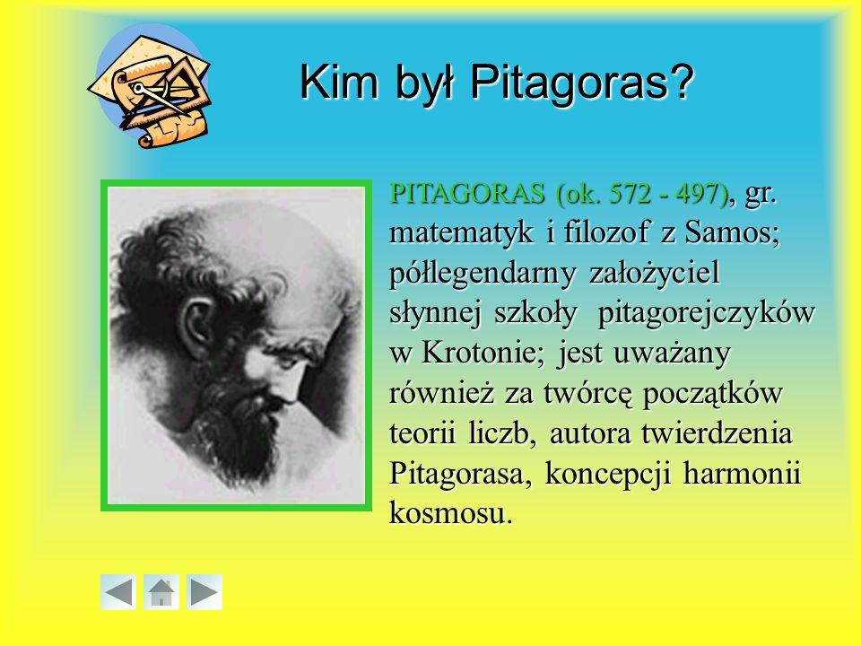 PITAGORAS (ok.572 - 497), gr.