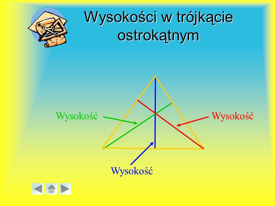 Ze względu na rodzaje kątów trójkąty dzielą się na: a) ostrokątne, jeśli wszystkie kąty są ostre, b) prostokątne, jeżeli jeden z kątów jest prosty (ma miarę 90°), c) rozwartokątne, jeśli jeden z kątów jest rozwarty, ααββ γγ γ > 90° γγ ββαα α, β, γ < 90° γγ ββαα β = 90° Podział trójkątów ze względu na rodzaje kątów