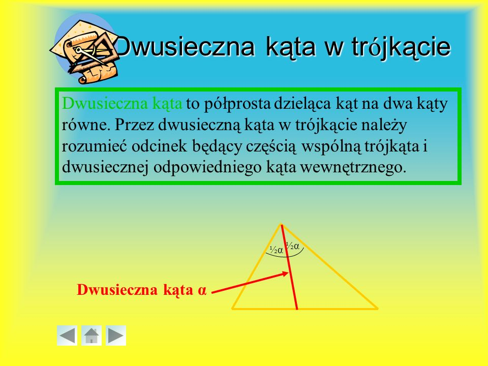 Odcinek środkowy w trójkącie Odcinek środkowy to odcinek łączący środki dowolnych dwóch boków w trójkącie.
