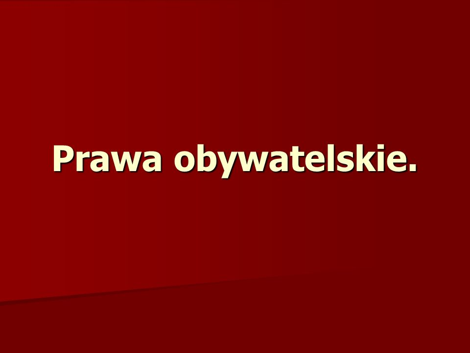 Prawa utworzone w Polsce – konstytucja RP z 1997r.