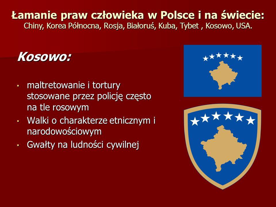 Kosowo: maltretowanie i tortury stosowane przez policję często na tle rosowym maltretowanie i tortury stosowane przez policję często na tle rosowym Wa