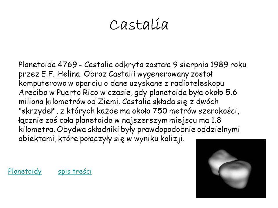 Castalia Planetoida 4769 - Castalia odkryta została 9 sierpnia 1989 roku przez E.F. Helina. Obraz Castalii wygenerowany został komputerowo w oparciu o