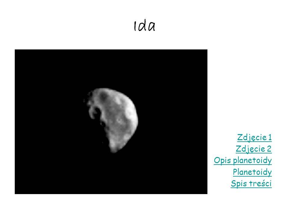 Ida Zdjęcie 1 Zdjęcie 2 Opis planetoidy Planetoidy Spis treści