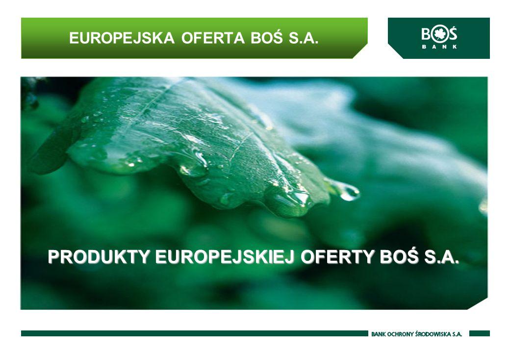 EUROPEJSKA OFERTA BOŚ S.A. PRODUKTY EUROPEJSKIEJ OFERTY BOŚ S.A.