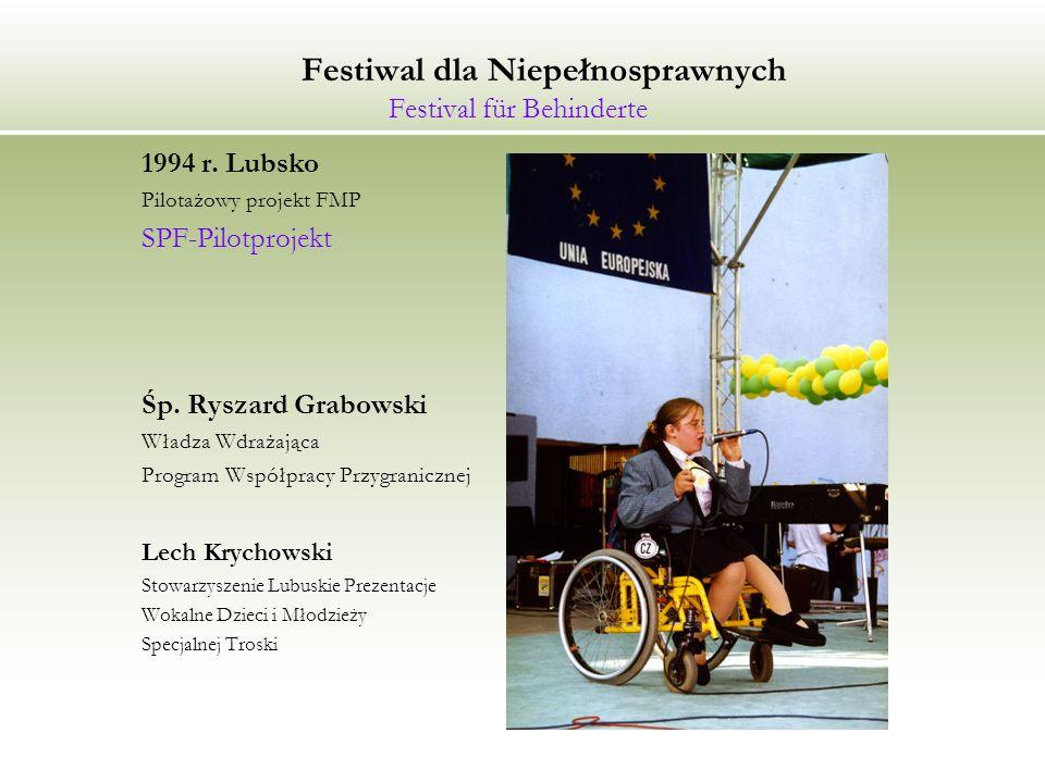 Festiwal dla Niepełnosprawnych Festival für Behinderte 1994 r.