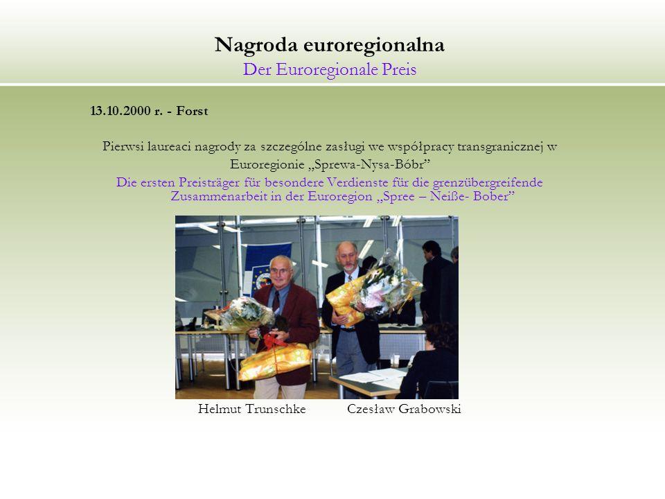Nagroda euroregionalna Der Euroregionale Preis 13.10.2000 r.