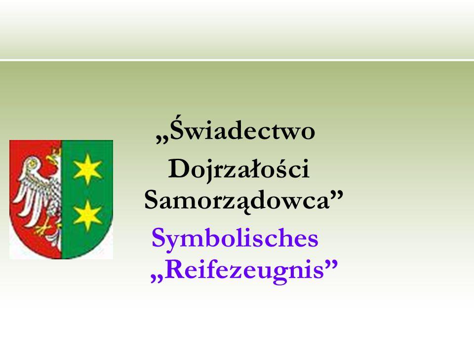Świadectwo Dojrzałości Samorządowca Symbolisches Reifezeugnis