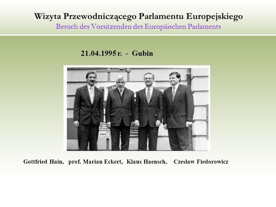 Forum Polskich Regionów Granicznych Das Forum der polnischen Grenzregionen 17.01.1995 r.