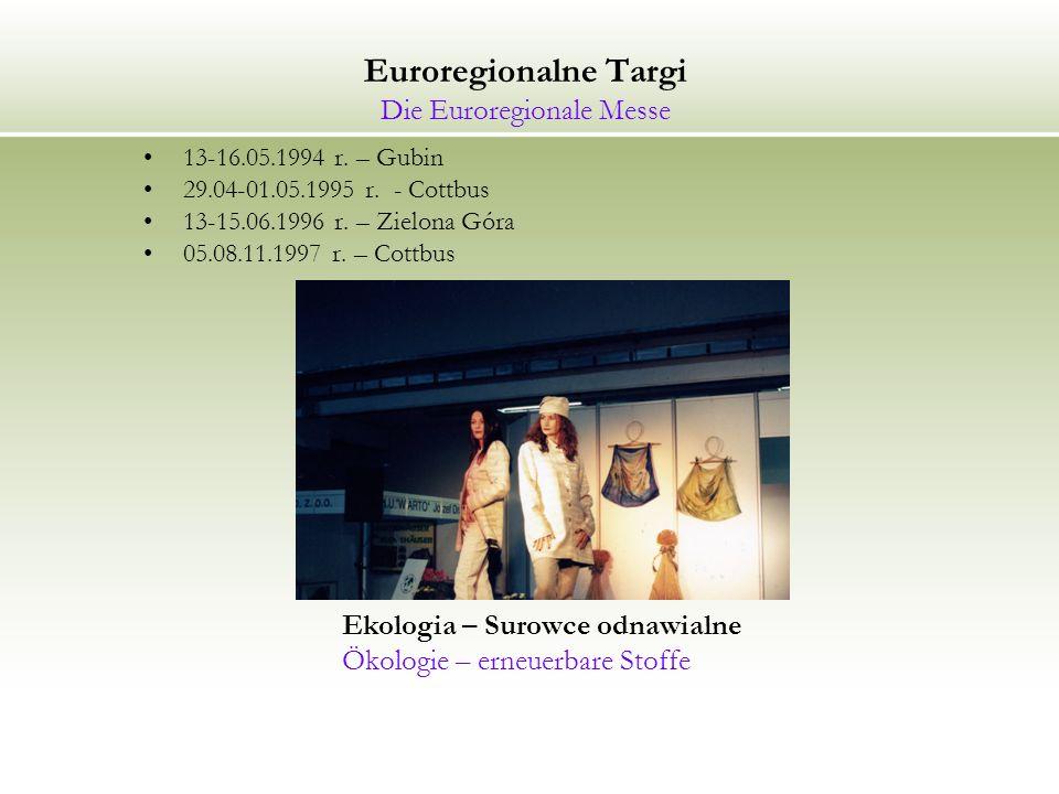 Euroregionalne Targi Die Euroregionale Messe 13-16.05.1994 r.