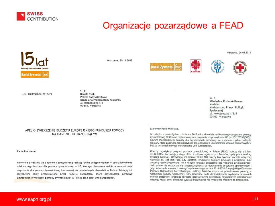 www.eapn.org.pl 11 Organizacje pozarządowe a FEAD