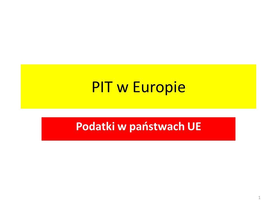 PIT w Europie Podatki w państwach UE 1