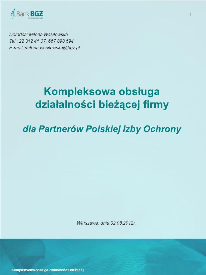 2 Kompleksowa obsługa działalności bieżącej I.