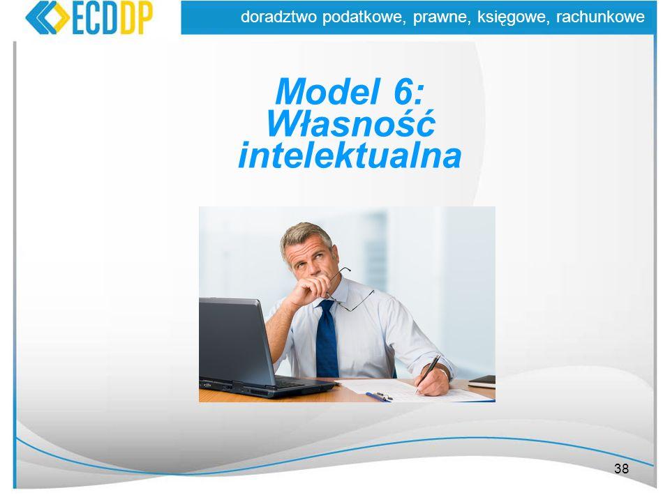 38 doradztwo podatkowe, prawne, księgowe, rachunkowe Model 6: Własność intelektualna