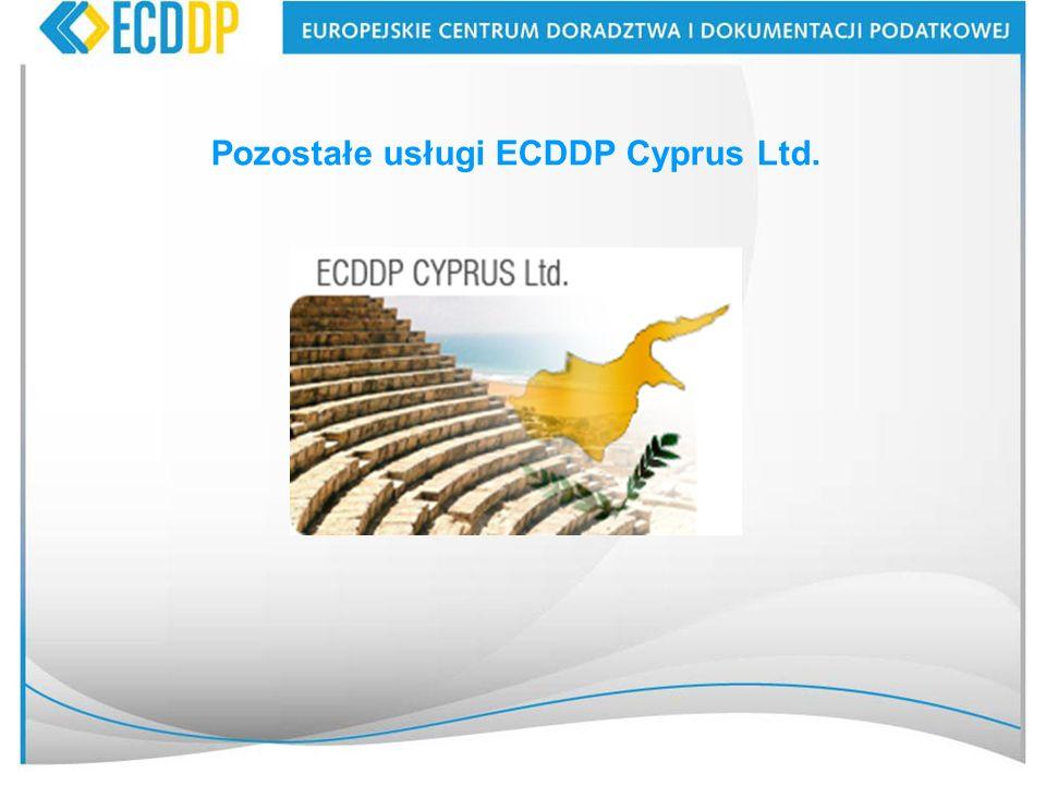 Pozostałe usługi ECDDP Cyprus Ltd.
