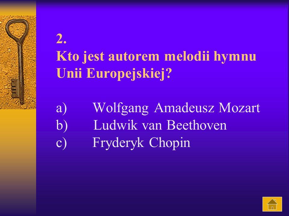 2.Kto jest autorem melodii hymnu Unii Europejskiej.