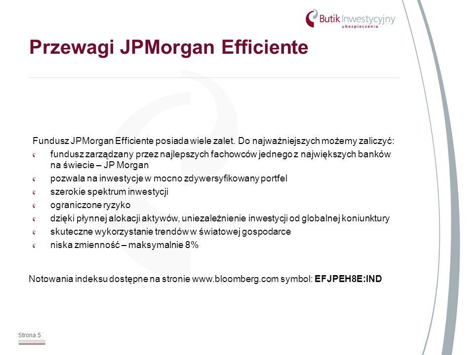 Strona 5 Fundusz JPMorgan Efficiente posiada wiele zalet.