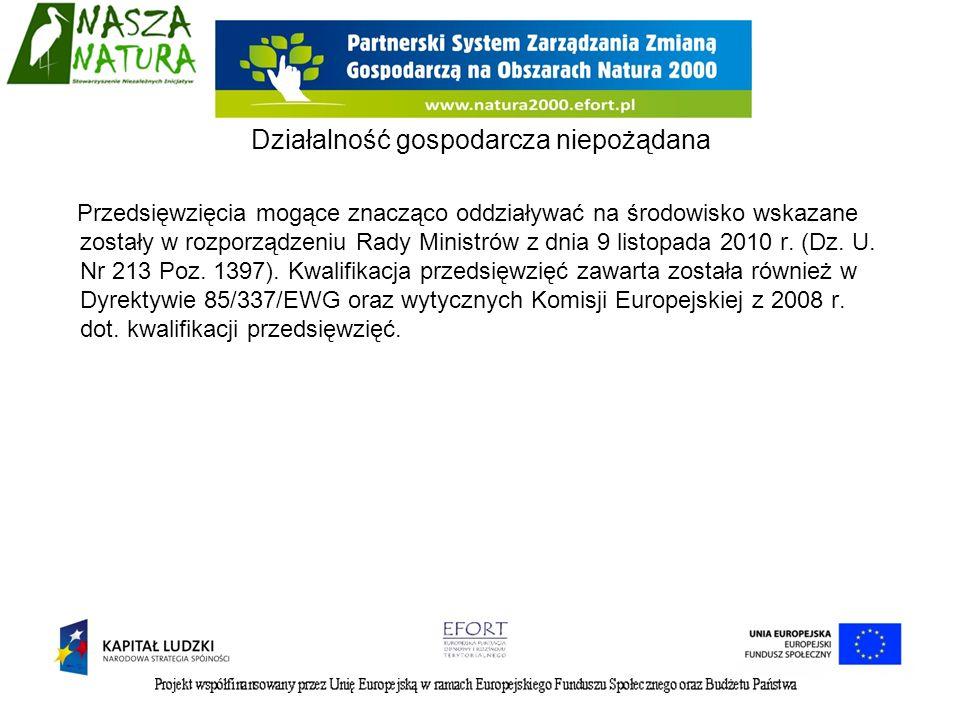 Przedsięwzięcia mogące znacząco oddziaływać na środowisko wskazane zostały w rozporządzeniu Rady Ministrów z dnia 9 listopada 2010 r. (Dz. U. Nr 213 P