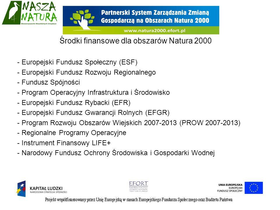- Europejski Fundusz Społeczny (ESF) - Europejski Fundusz Rozwoju Regionalnego - Fundusz Spójności - Program Operacyjny Infrastruktura i Środowisko -