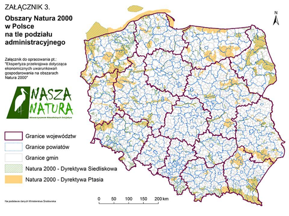 Pozytywne aspekty wdrożenia sieci: Natura 2000 w świadomości społecznej - wpływ obszarów Natura 2000 zlokalizowanych na terenie gminy na jej rozwój w opinii wójtów i burmistrzów Źródło: B.
