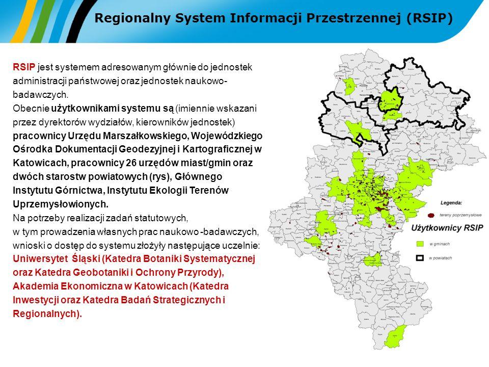 RSIP jest systemem adresowanym głównie do jednostek administracji państwowej oraz jednostek naukowo- badawczych. Obecnie użytkownikami systemu są (imi