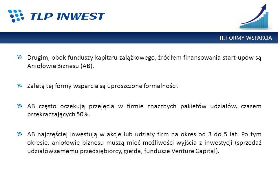 Drugim, obok funduszy kapitału zalążkowego, źródłem finansowania start-upów są Aniołowie Biznesu (AB). Zaletą tej formy wsparcia są uproszczone formal