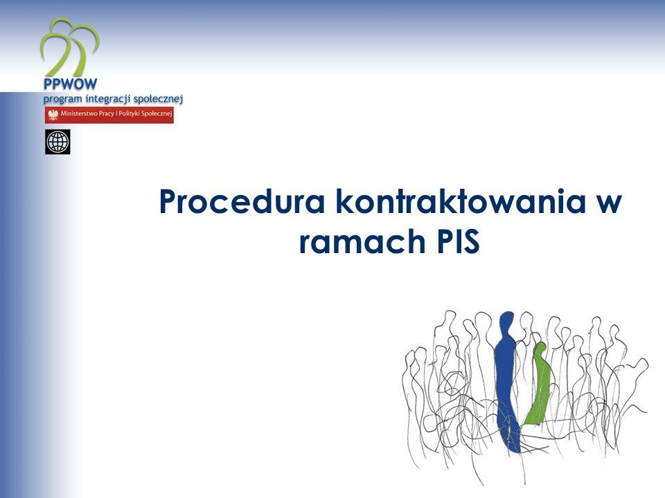 Procedura kontraktowania w ramach PIS