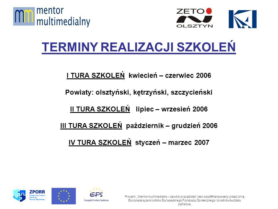 Projekt: Mentor multimedialny – zawód przyszłości jest współfinansowany przez Unię Europejską ze środków Europejskiego Funduszu Społecznego i środków budżetu państwa.