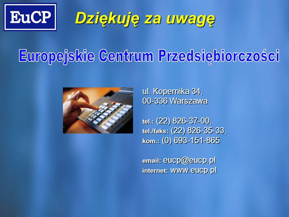 ul. Kopernika 34, 00-336 Warszawa tel.: (22) 826-37-00, tel./faks: (22) 826-35-33, kom.: (0) 693-151-865 email: eucp@eucp.pl internet: www.eucp.pl Dzi