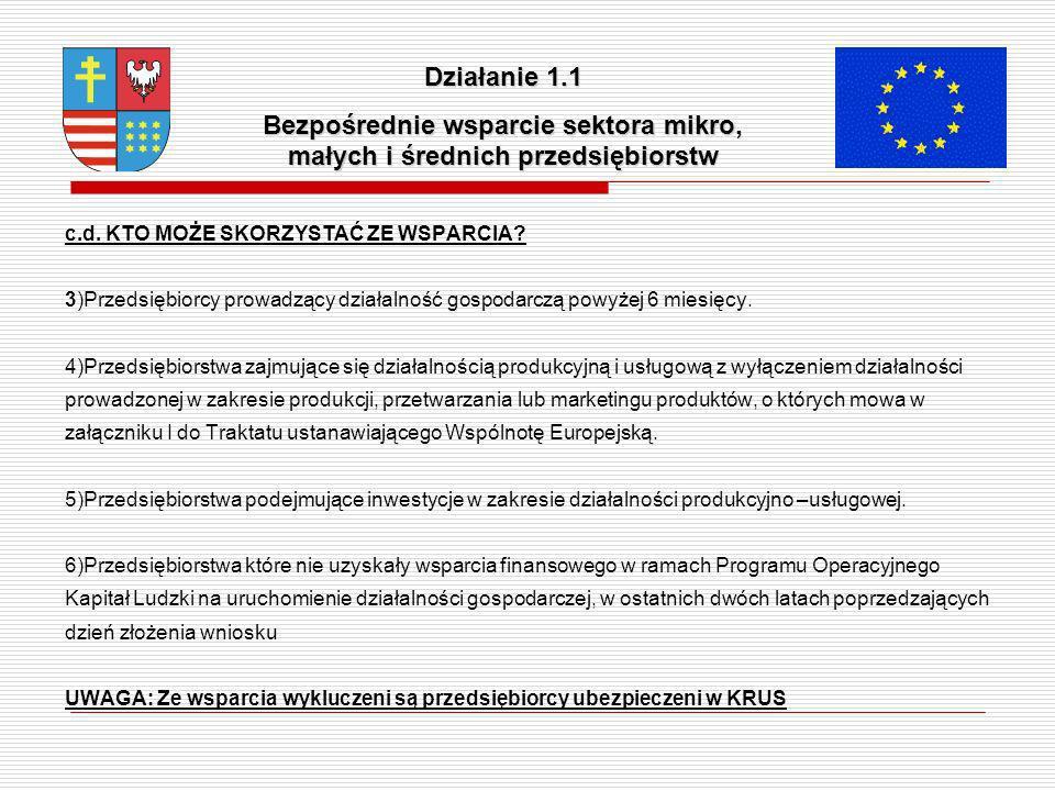 Kwoty wsparcia projekt ó w Działanie 1.1 Minimalna wartość dotacji to 10 000 PLN, a maksymalna: dla mikroprzedsiębiorstw – 1 500 000 PLN, dla małych przedsiębiorstw – 2 400 000 PLN, dla średnich przedsiębiorstw – 3 999 999 PLN.