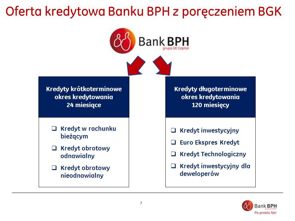 7 Kredyty długoterminowe okres kredytowania 120 miesięcy Kredyt inwestycyjny Euro Ekspres Kredyt Kredyt Technologiczny Kredyt inwestycyjny dla dewelop