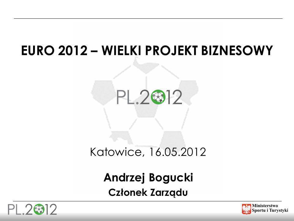 EURO 2012 – WIELKI PROJEKT BIZNESOWY Katowice, 16.05.2012 Andrzej Bogucki Członek Zarządu