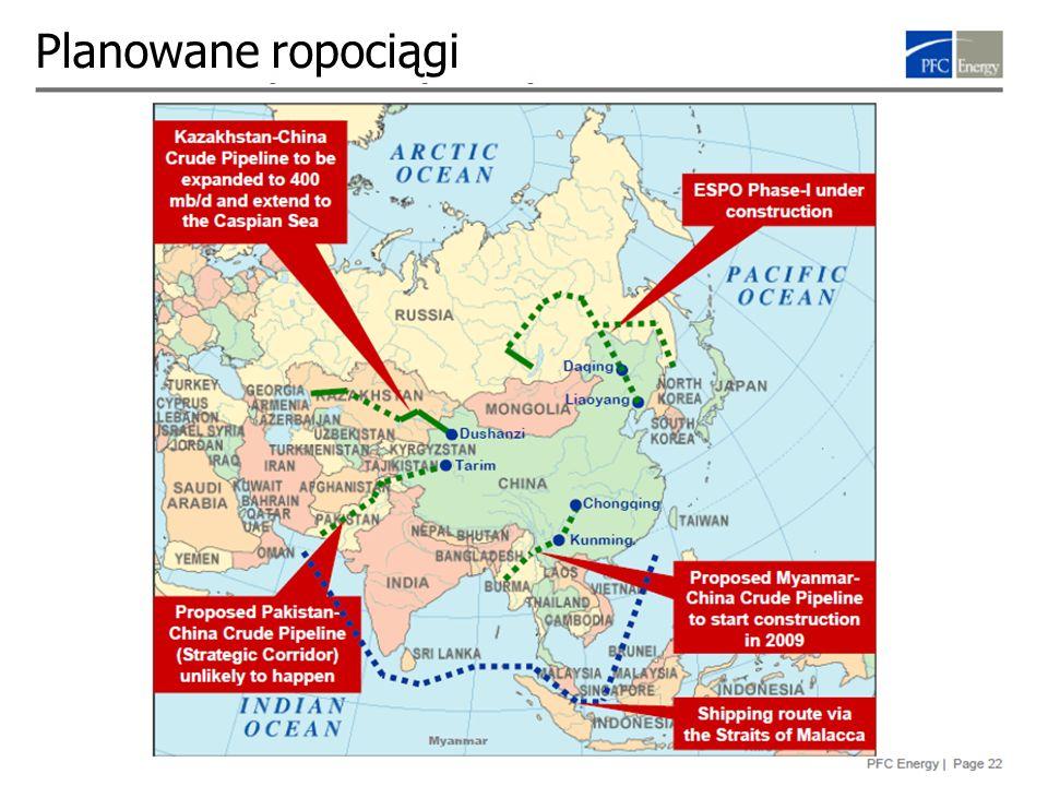 Rybinski.eu 27 Planowane ropociągi