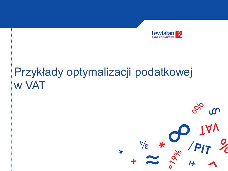 Przykłady optymalizacji podatkowej w VAT