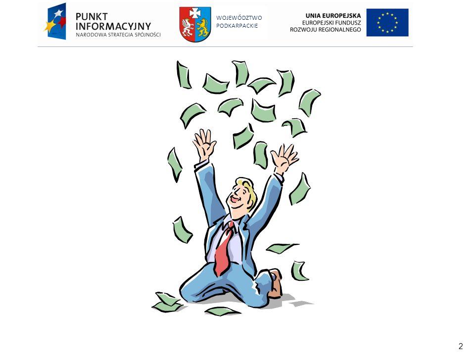63 WOJEWÓDZTWO PODKARPACKIE Zakaz podwójnego finansowania Podwójne finansowanie oznacza niedozwolone zrefundowanie całkowite lub częściowe danego wydatku dwa razy ze środków publicznych - wspólnotowych lub krajowych.