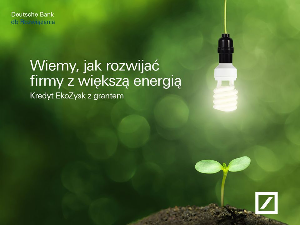 Paweł Dziekoński Dyrektor Zarządzający Obszarem Produktów Kredytowych Deutsche Bank 12 Przykładowe typy projektów Modernizacja budynków Technologie procesowe (grzanie, chłodzenie, zamrażanie, systemy zarządzania energią) Energia ze źródeł odnawialnych Wykorzystanie energii odpadowej (gazy odlotowe i gospodarka parowa) Modernizacja budynków Technologie procesowe (grzanie, chłodzenie, zamrażanie, systemy zarządzania energią) Energia ze źródeł odnawialnych Wykorzystanie energii odpadowej (gazy odlotowe i gospodarka parowa)