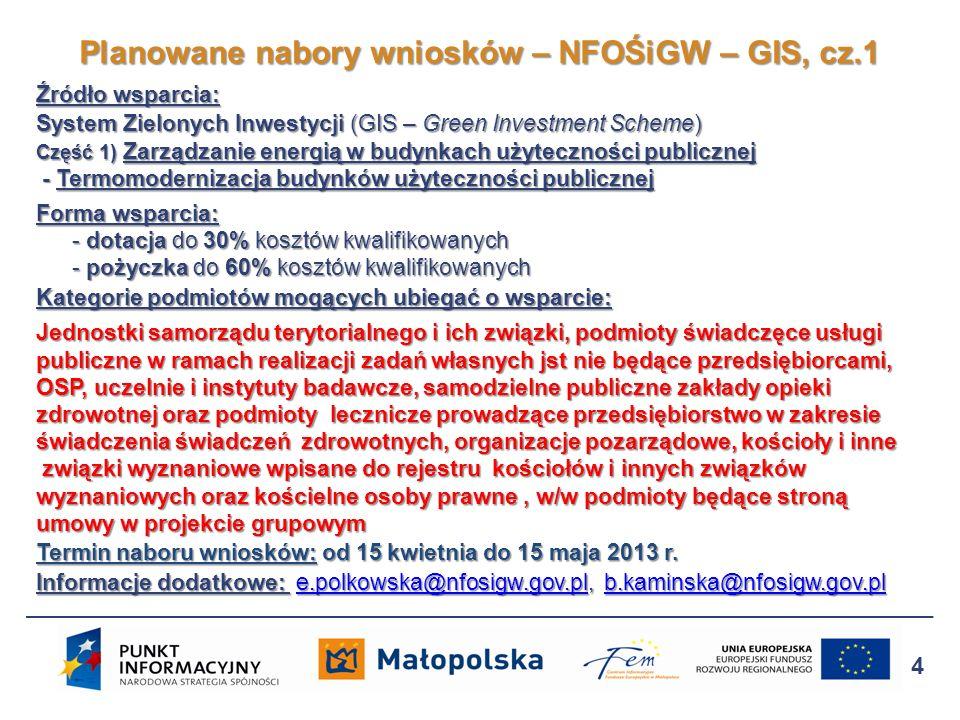 Źródło wsparcia: System Zielonych Inwestycji (GIS – Green Investment Scheme) Część 1) Zarządzanie energią w budynkach użyteczności publicznej - Termom