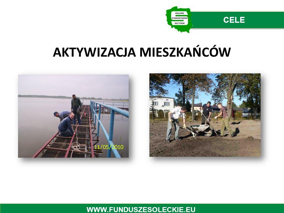 AKTYWIZACJA MIESZKAŃCÓW CELE WWW.FUNDUSZESOLECKIE.EU