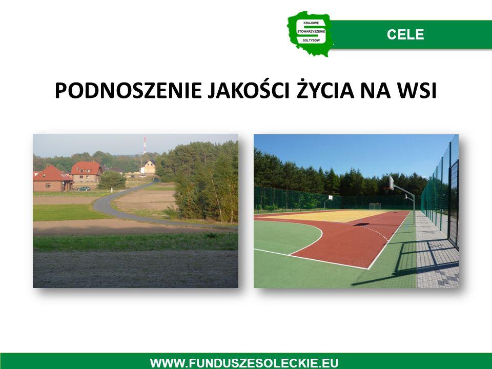 PODNOSZENIE JAKOŚCI ŻYCIA NA WSI CELE WWW.FUNDUSZESOLECKIE.EU