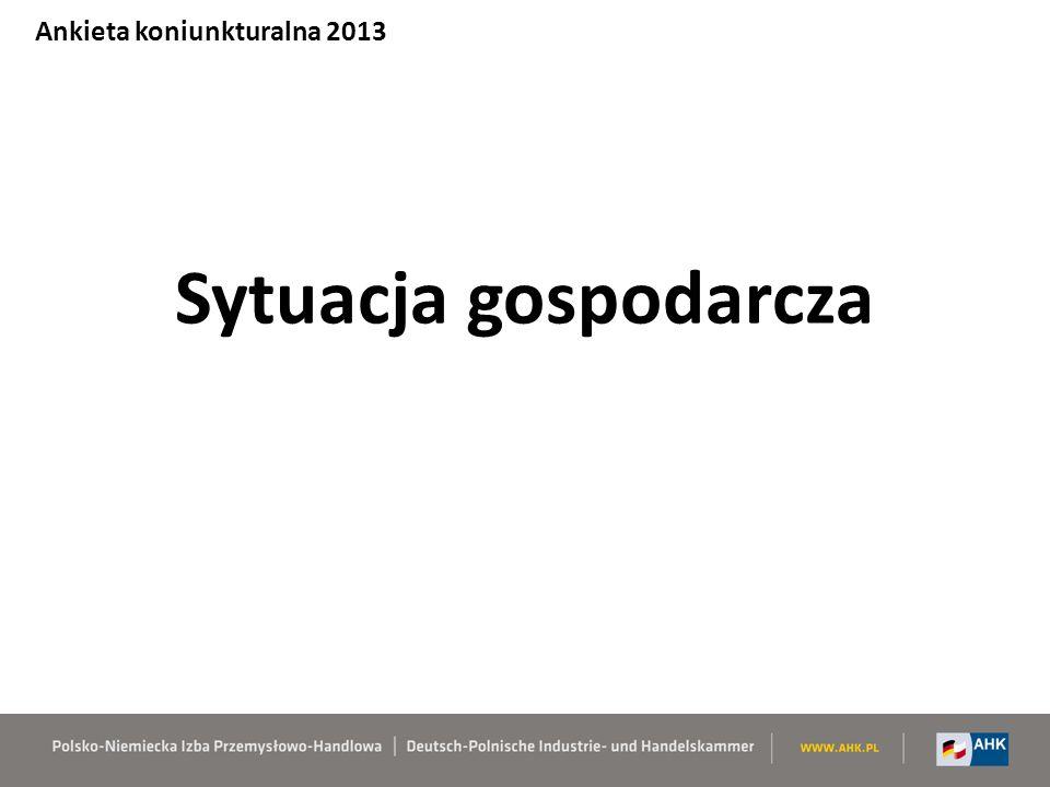 Sytuacja gospodarcza Ankieta koniunkturalna 2013