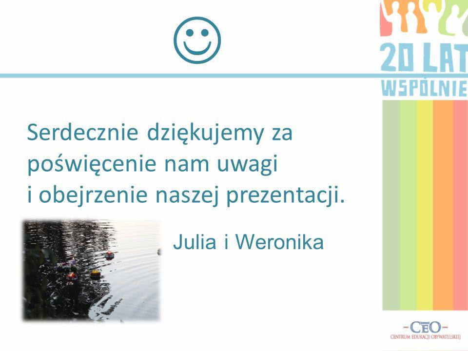 Serdecznie dziękujemy za poświęcenie nam uwagi i obejrzenie naszej prezentacji. JuliaiWeronika