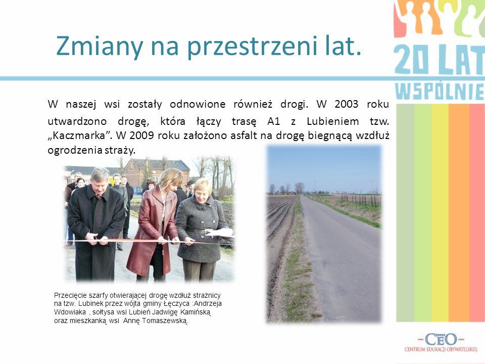 Zmiany na przestrzeni lat. W naszej wsi zostały odnowione również drogi.