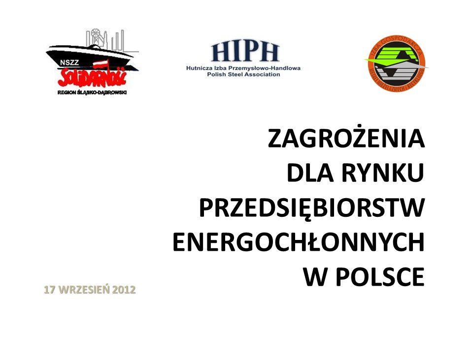 FAKTY: 1.W Polsce w latach 2007-2011 ceny energii elektrycznej dla dużych odbiorców wzrosły o 100%.
