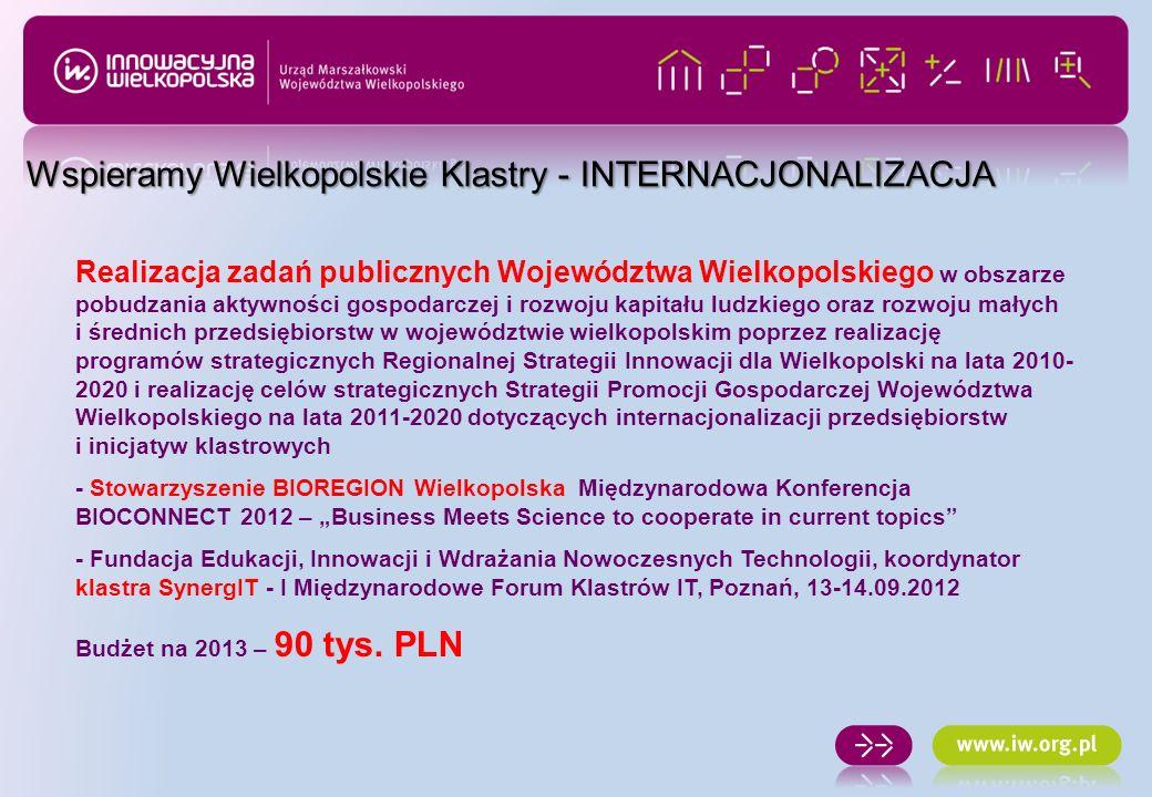 Realizacja zadań publicznych Województwa Wielkopolskiego w obszarze pobudzania aktywności gospodarczej i rozwoju kapitału ludzkiego oraz rozwoju małyc