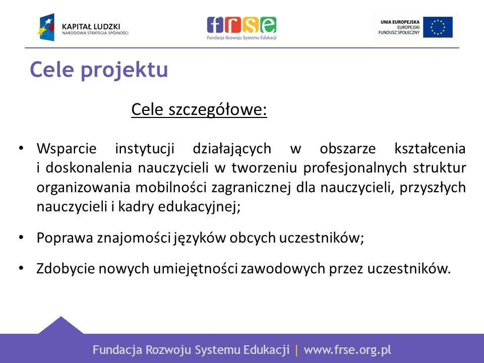 Fundacja Rozwoju Systemu Edukacji | www.frse.org.pl Wsparcie instytucji działających w obszarze kształcenia i doskonalenia nauczycieli w tworzeniu pro