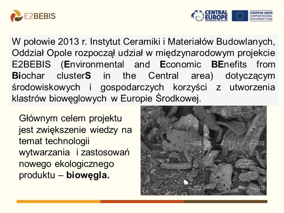 W połowie 2013 r. Instytut Ceramiki i Materiałów Budowlanych, Oddział Opole rozpoczął udział w międzynarodowym projekcie E2BEBIS (Environmental and Ec